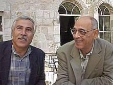 El papel de la cultura en áreas del conflicto Izzat Ghazawi, Presidente de la unión de escritores Palestinos y  Sami Michael, escritor israelí participantes ambos de una conferencia