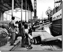 Arrivo a la Argentina de inmigantes judíos marroquíes
