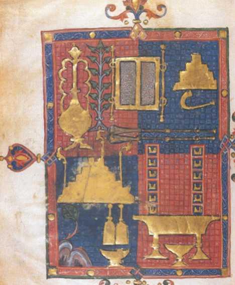 Fig. 4 Biblia española del Duque de Sussex Implementos de Liturgia del Templo