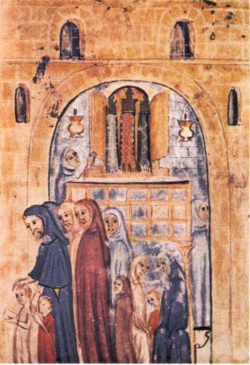 Fig. 15 Libro de Relatos (Hagadah) Aragón 1350 de Aragón, España durante el tercer cuarto del siglo XIV