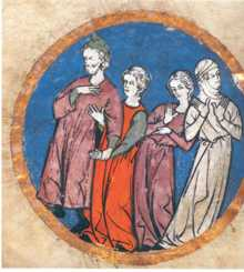 Fig. 16ª Vestimenta de Judíos del Norte de Francia principios del 6.