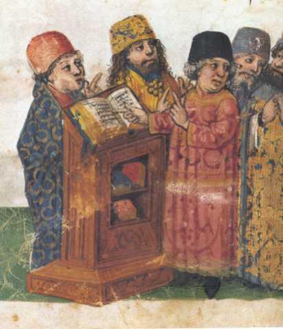 Fig. 30 Libro de Relatos de Pascuas (Feibush Hagadah) Sur de Alemania 1460-1475 (detalle)