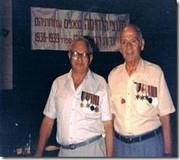 Los brigadistas judios Jack Shawy y Joe-Garber en un encuentro de brigadistas celebrado en Israel en 1996