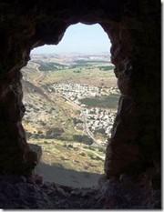 Cueva soibre Midal desde los rebeldes judíos observaban a las tropas romanas.